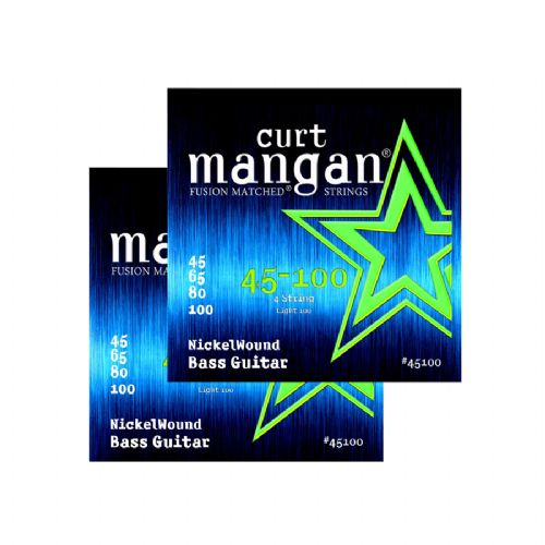 Curt Mangan 45100 Nickel Wound elbas-strenge 045-100, 2-pack