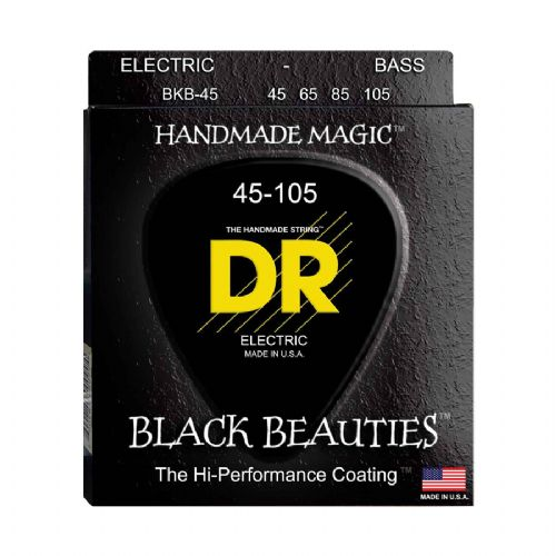 DR Strings BKB-45 Black Beauties black bas-strenge, 045-105
