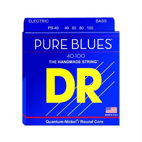 DR Strings PB-40 Pure blues bas-strenge, 040-100