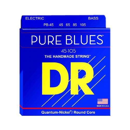 DR Strings PB-45 Pure blues bas-strenge, 045-105