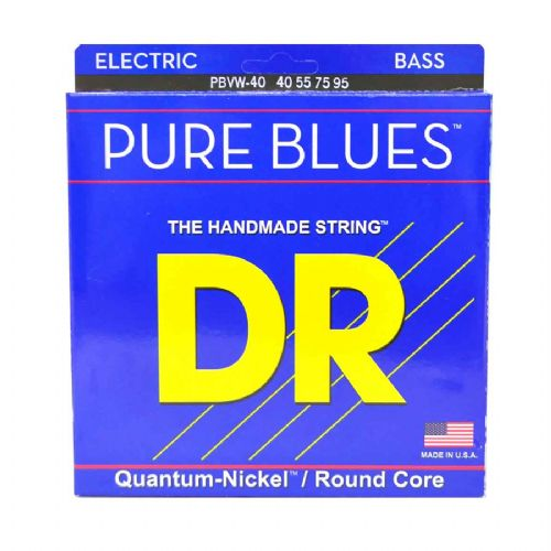 DR Strings PBVW-40 Pure blues bas-strenge, 040-095