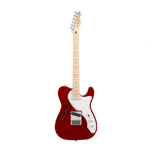 Fender Deluxe Telecaster Thinline, MN, CAR el-guitar candy apple red