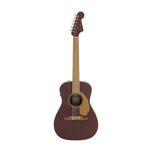 Fender Malibu Player, WN, BS western-guitar burgundy satin