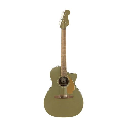 Fender Newporter Player, OLS western-guitar olive satin