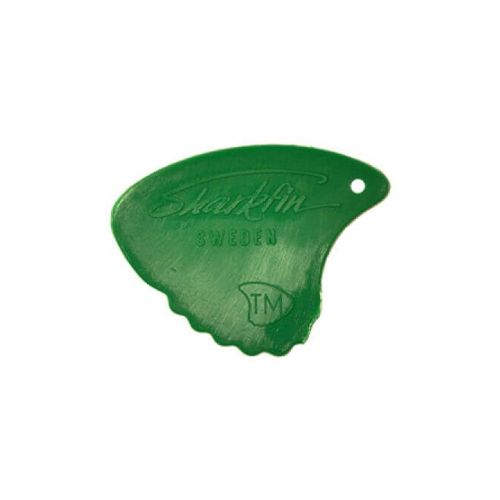 Sharkfin GP 103 Relief, Extra soft, Green plektre (10 stk)