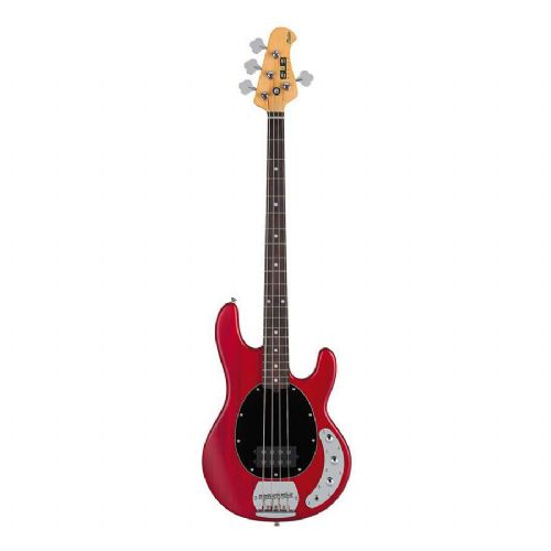 SterlingbyMusicMan S.U.B.Ray4-TRS el-bas transparent red satin